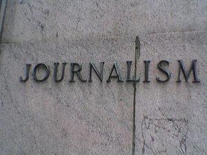 журналистика journalism надпись